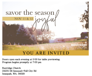 Savor the Season Invite 2019